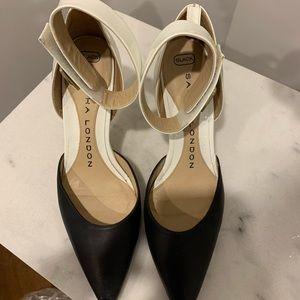 Sasha London stilettos with strap